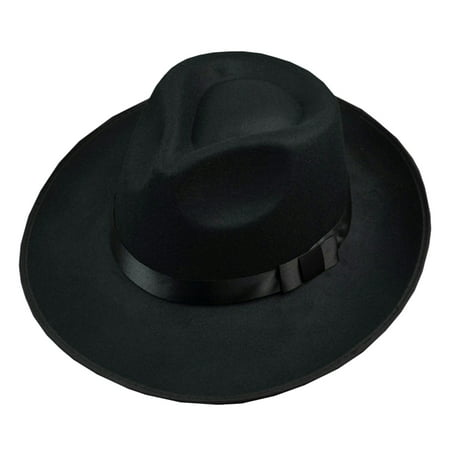 b79d0b3ee7360 Unisex Wool Felt Fedora Hat Classic Men Wide Brim Fedoras Jazz Cap for Head  Size 58 ...
