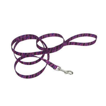 3/4 Nylon Web Lead - COASTAL PET PRODUCTS, INC. 464 04 PAP 5/8 NYLON WEB LEAD PURPLE ANIMAL PRINT