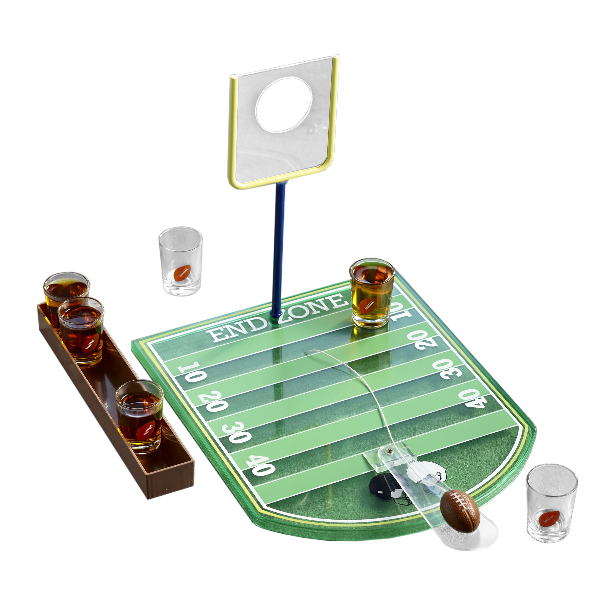 FOOTBAL GAME WITH SIX SHOT GLASSES