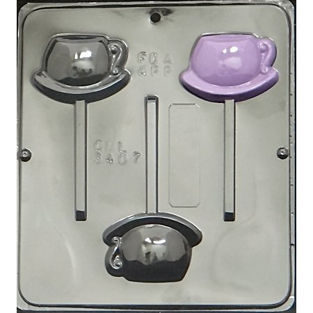 - 3407 Tea Cup Lollipop Chocolate Candy Mold