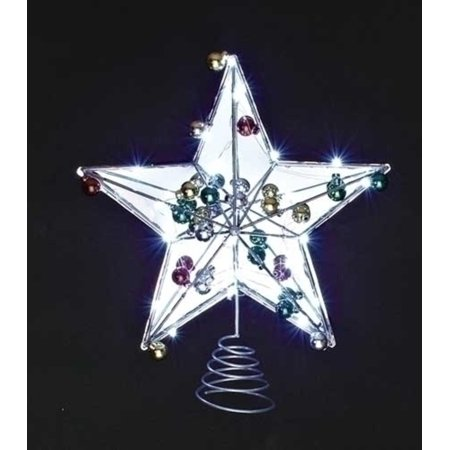 15 led lighted battery operated mirrored star christmas. Black Bedroom Furniture Sets. Home Design Ideas