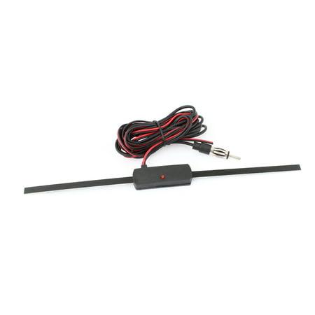 Vehicle Auto Windscreen Mount FM Radio TV Antenna Aerial Black