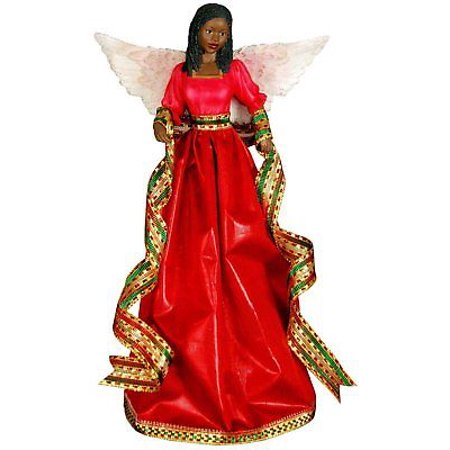 TIFFANY in RED African American Angel Christmas Tree Topper, United (Tiffany Christmas Tree)