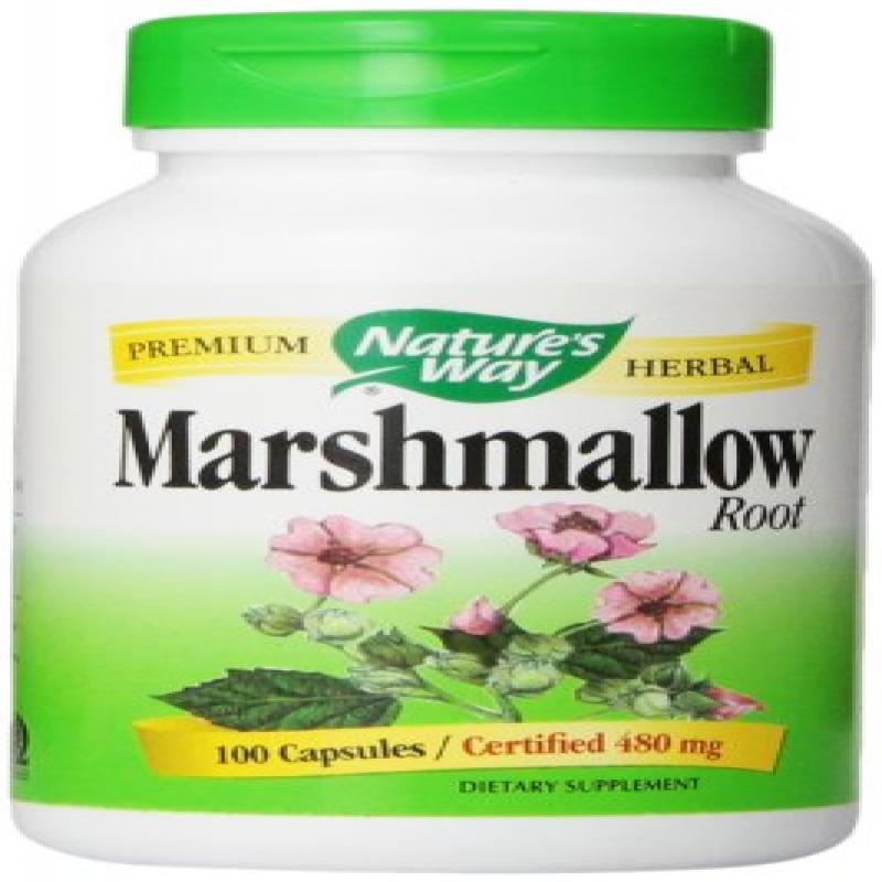 Nature's Way Marshmallow Root (COG), 480 mg 100 Capsules