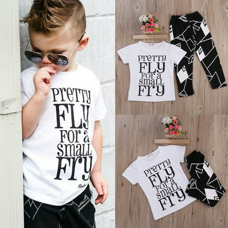 2-7T Kids Toddler Baby Boy Summer Clothing Set Short Sleeve Shirt+Pants Outfits - Summer Short Outfits