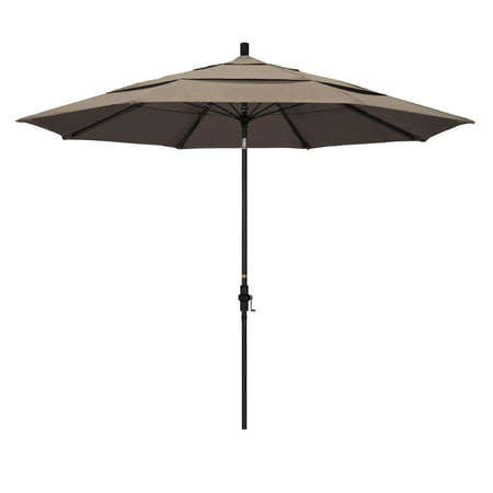California Umbrella 11 ft. Fiberglass Double Vent Sunbrella Tilt Market - Double Umbrella