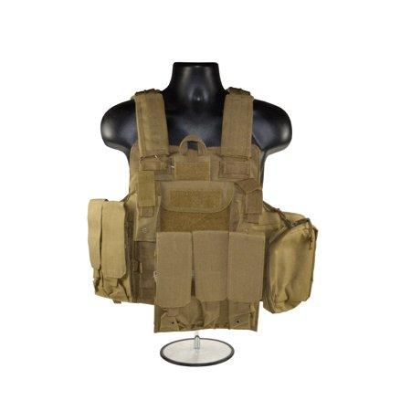 Sniper Shooting Mat (Sniper Cross Draw Tactical Vest - Color: Tan )