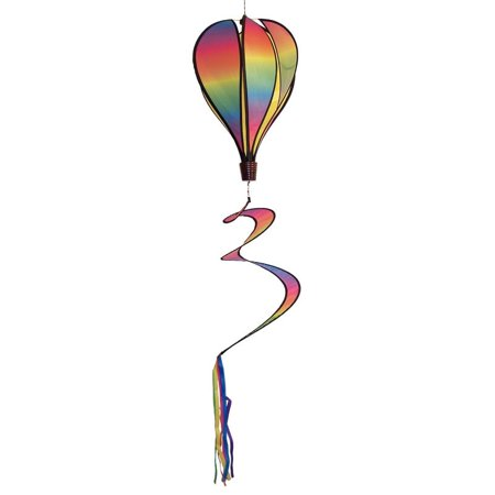 In the Breeze Rainbow Blended Hot Air Balloon Wind Spinner - Rainbow Wind Spinners