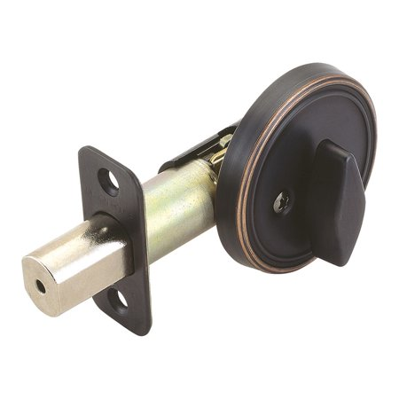 Design House 750869 Single Sided Deadbolt, Oil Rubbed Bronze
