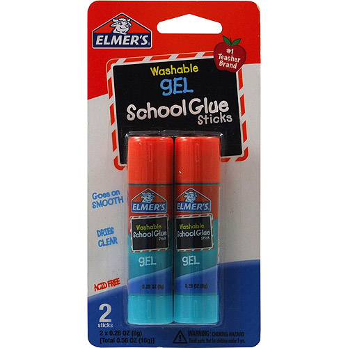 Elmer's Washable School Glue Gel Sticks, 2pk, .28 oz