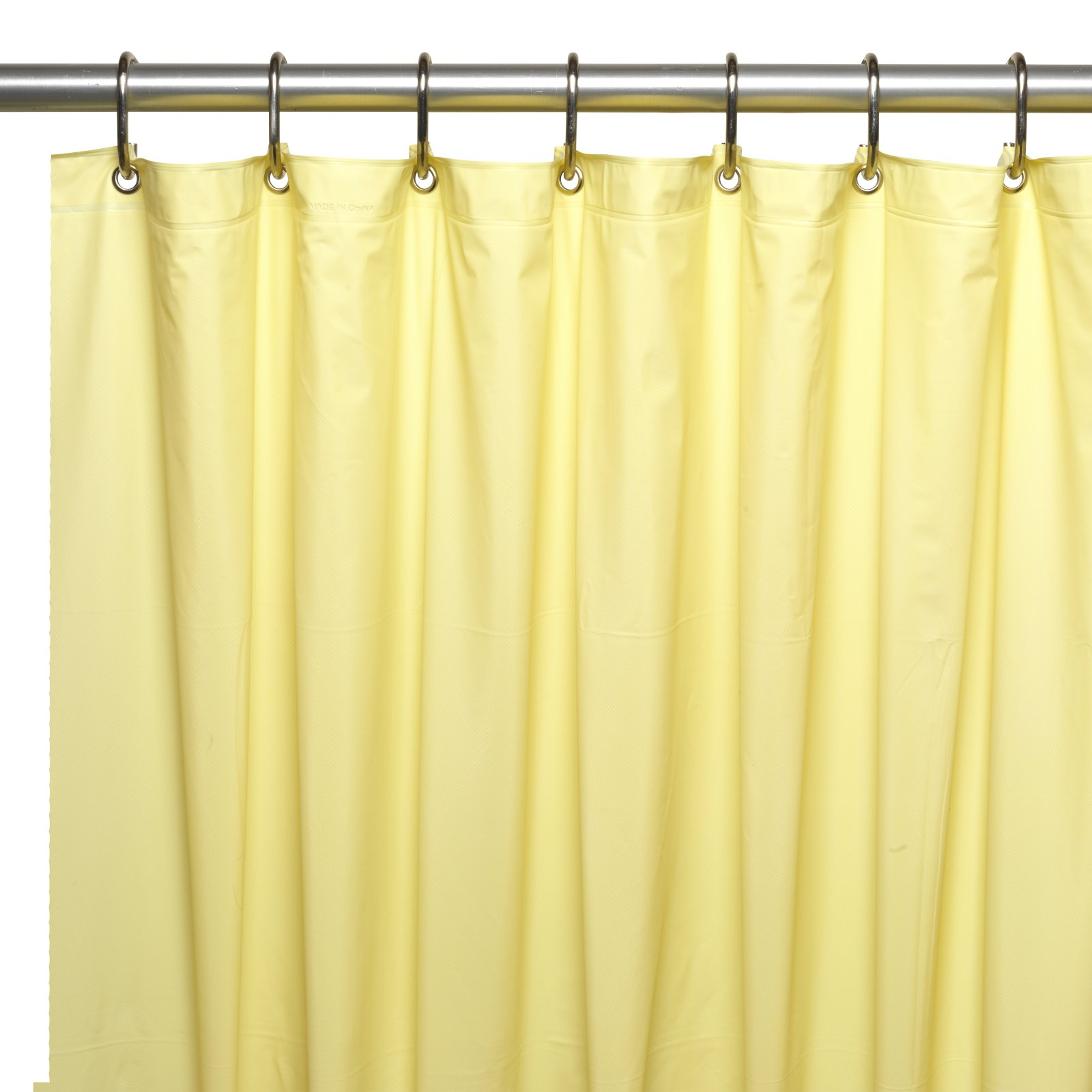Hotel Collection, 8 Gauge Vinyl Shower Curtain Liner w/ Metal Grommets in Yellow