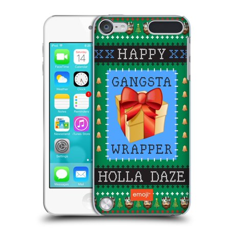 Gingerbread Emoji (OFFICIAL EMOJI UGLY CHRISTMAS HARD BACK CASE FOR APPLE IPOD TOUCH)