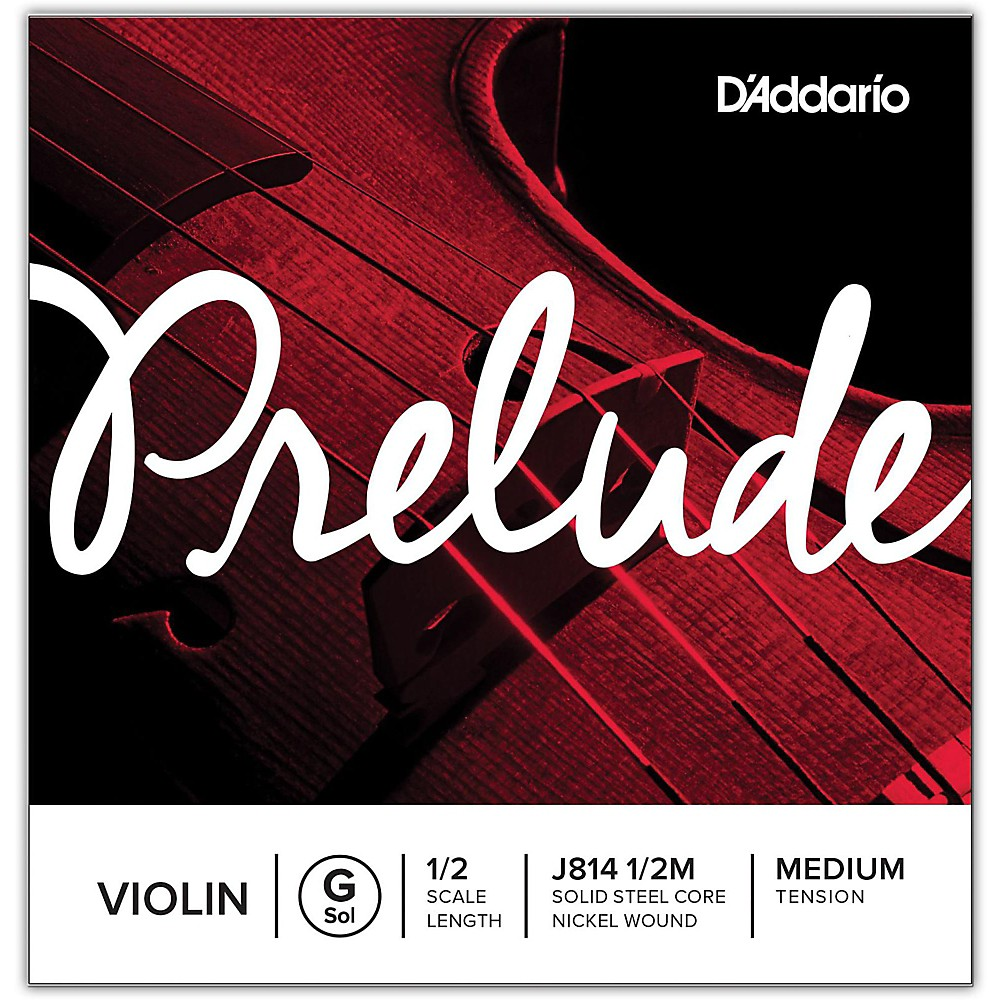 D'Addario Prelude Violin G String  1/2