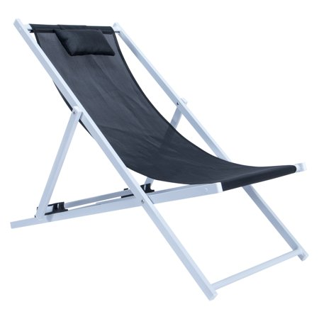 LeisureMod Sunset Outdoor Sling Lounge Chair With Headrest ()