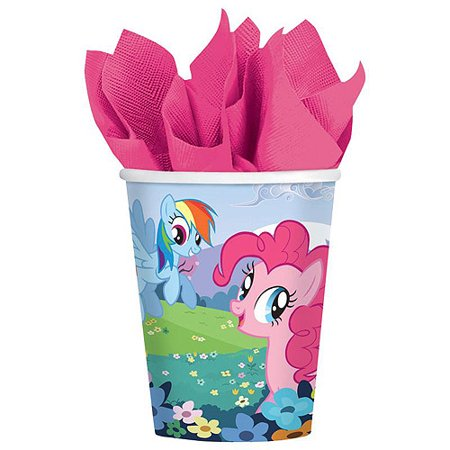 My Little Pony Friendship Magic 9 oz. Paper Cups (8) - My Little Pony Cup
