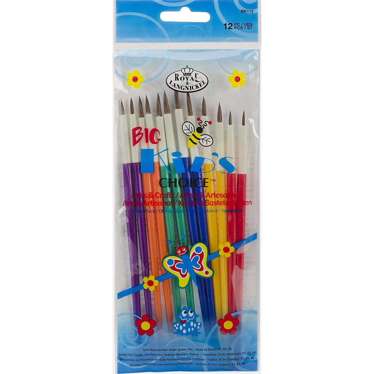 Big Kid's Choice Arts & Crafts Brush Set-12/Pkg