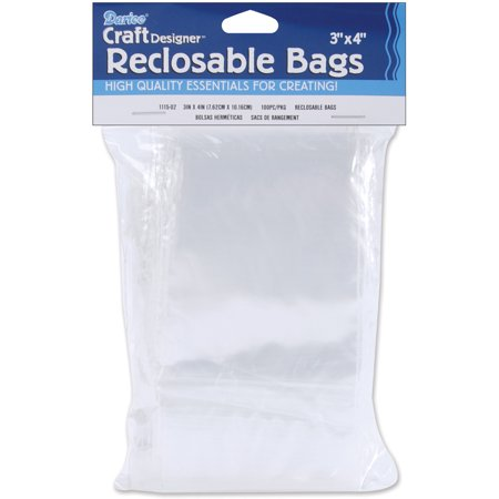 Darice Craft Wire Package (Darice Re-Closable Bags, 100pk )
