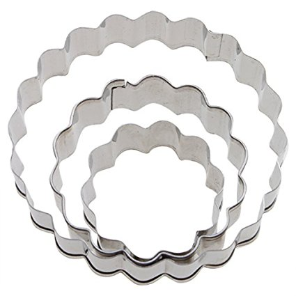 3PCS Stainless Steel Cookie Cutters Cake Mold Pastry Cutter - Carnation Shapes