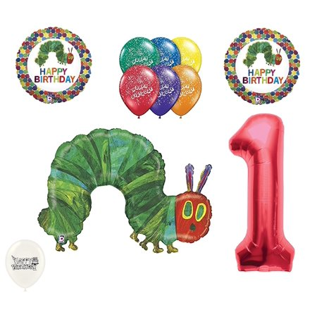 1st Birthday The Very Hungry Caterpillar Balloons Party Bouquet for $<!---->