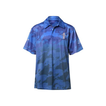 Ford Performance Mustang Print Polo Sublimated Unisex Shirt OuTZiPkX