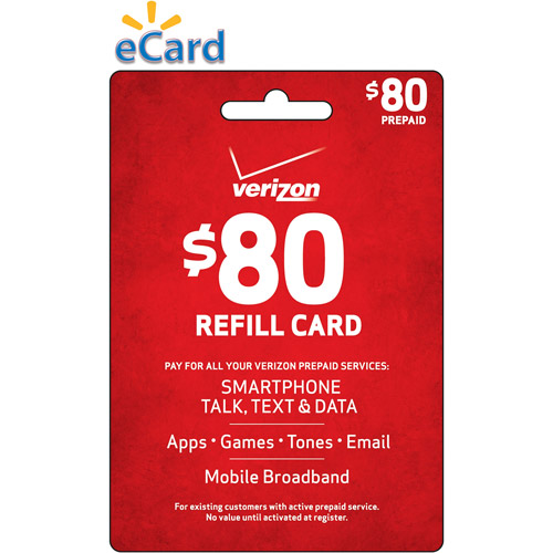 (Email Delivery) Verizon $80 Refill Card