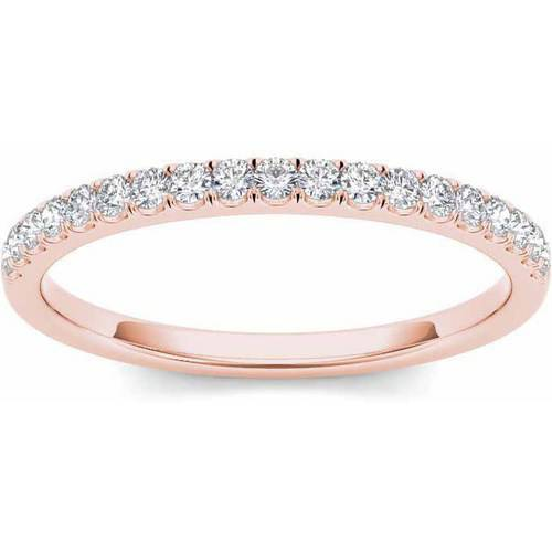 Imperial 1 4 Carat T.W. Diamond 14kt Rose Gold Wedding Band by Imperial Jewels