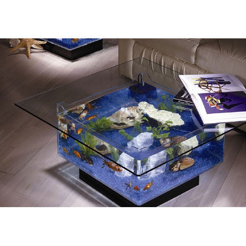 Midwest Tropical Fountain 25 Gallon Aqua Coffee Table Aquarium Tank