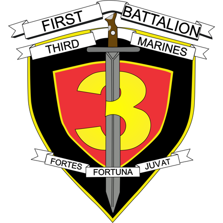 10 Inch 1st Battalion 3rd Marines Decal