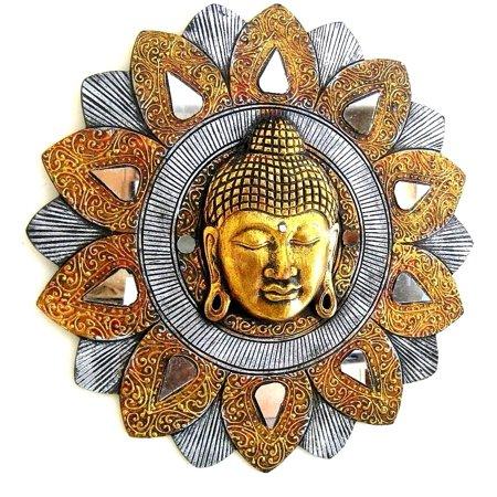 Buddha Wall Art Wall Hanging Buddha Mask Wall Decor Buddha Statue Mosaic - Handmade- OMA BRAND, XL