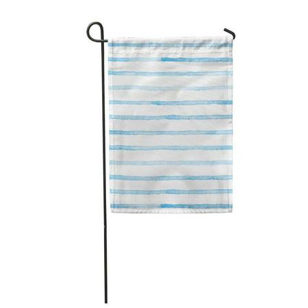 NUDECOR Lines Watercolor Blue Stripes on Striped Garden Flag Decorative Flag House Banner 28x40 inch - image 1 de 1