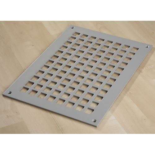 "Reggio Registers G1014-SNH Grid Series 12"" x 8"" Floor Grille without Mounting Holes"