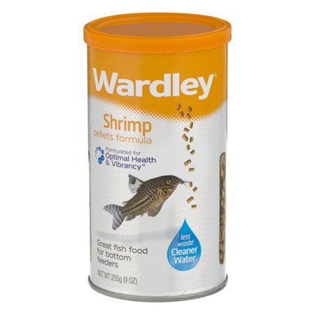 Wardley Shrimp Pellets, Tropical Fish Food and Bottom Feeding Fish Food-9.0 oz.