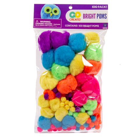 - Go Create Assorted Bright Poms, 100 Piece