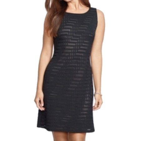 American Living NEW Black Womens Size 12 Chevron-Knit Sheath Dress Black Sheath Dress