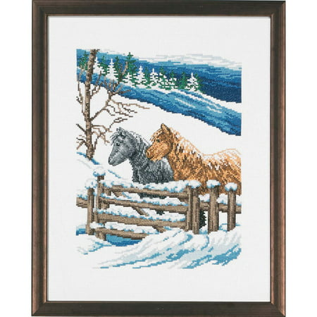 Horse Cross Stitch - Permin® Horses Winter Counted Cross-Stitch Kit