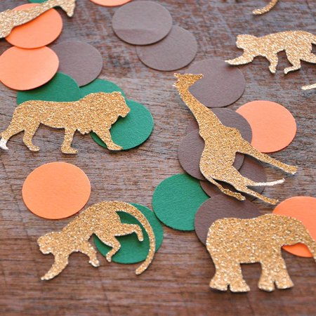 Jungle Baby Shower Decorations. Ships in 1-3 Business Days. Jungle Confetti Mix (50CT). for $<!---->