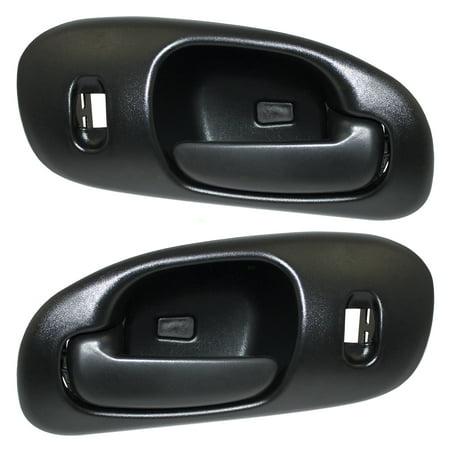Pair Set Front Inside Interior Textured Door Handles Replacement for Dodge Intrepid 5102839AA 5102836AA