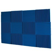 "12"" x 12""x 1"" Ice Blue 12 Pack Acoustic Panels Studio Foam Wedges Fire Resistant By Mybecca Ship from US"