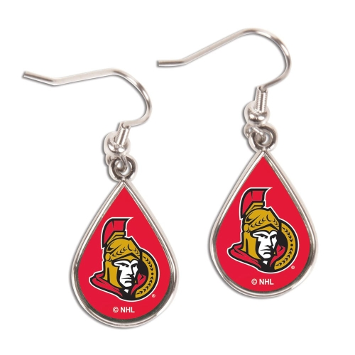 Ottawa Senators WinCraft Tear Drop Dangle Earrings - No Size