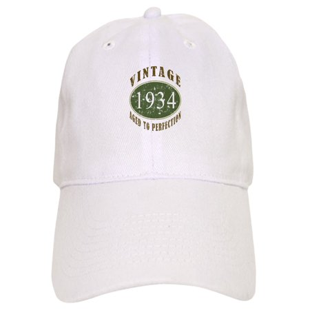 CafePress - Vintage 1934 Birthday (Green) - Printed Adjustable Baseball -