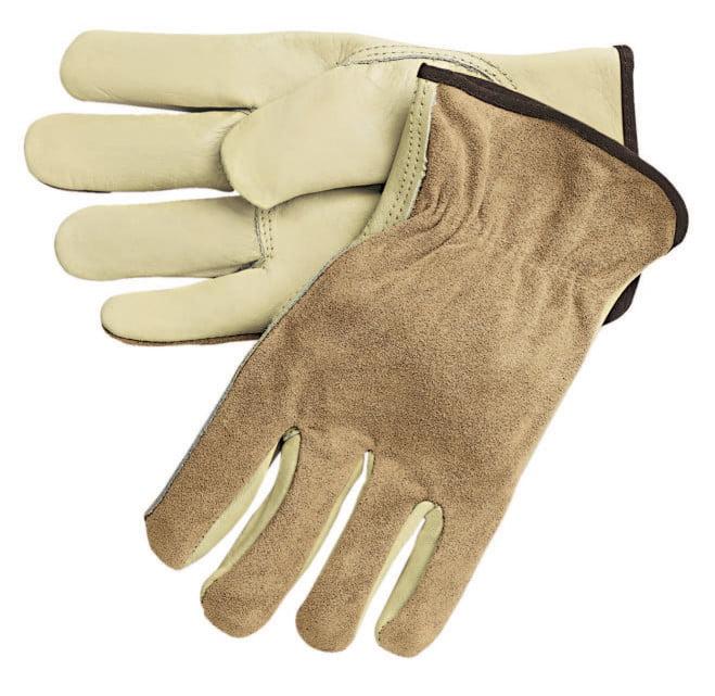 Premium-Grade Leather Driving Gloves, Split Back/Cowhide, Large, Keystone Thumb