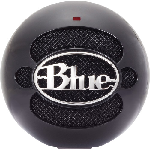 Blue Microphones Snowball USB Condenser Microphone, Gloss Black by Blue Microphones