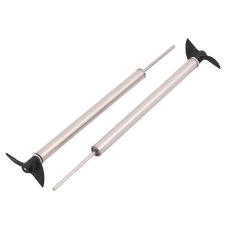 1Pair Boat Model Accessories 2mm Dia 150mm Long Drive Shaft w 2-Vanes