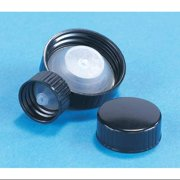 KIMBLE Cap,24-400mm,Screw On,Black,PK144 75205G-24400
