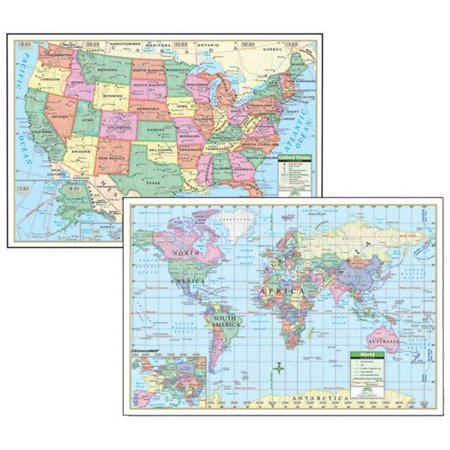 (Universal Map 12489 40 x 28 Inch Us And World Paper - Rolled Maps)