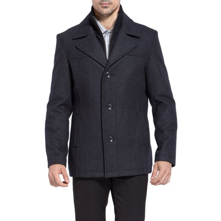 BGSD Men's 'Thomas' Melton Wool Blend Bibbed Car Coat -