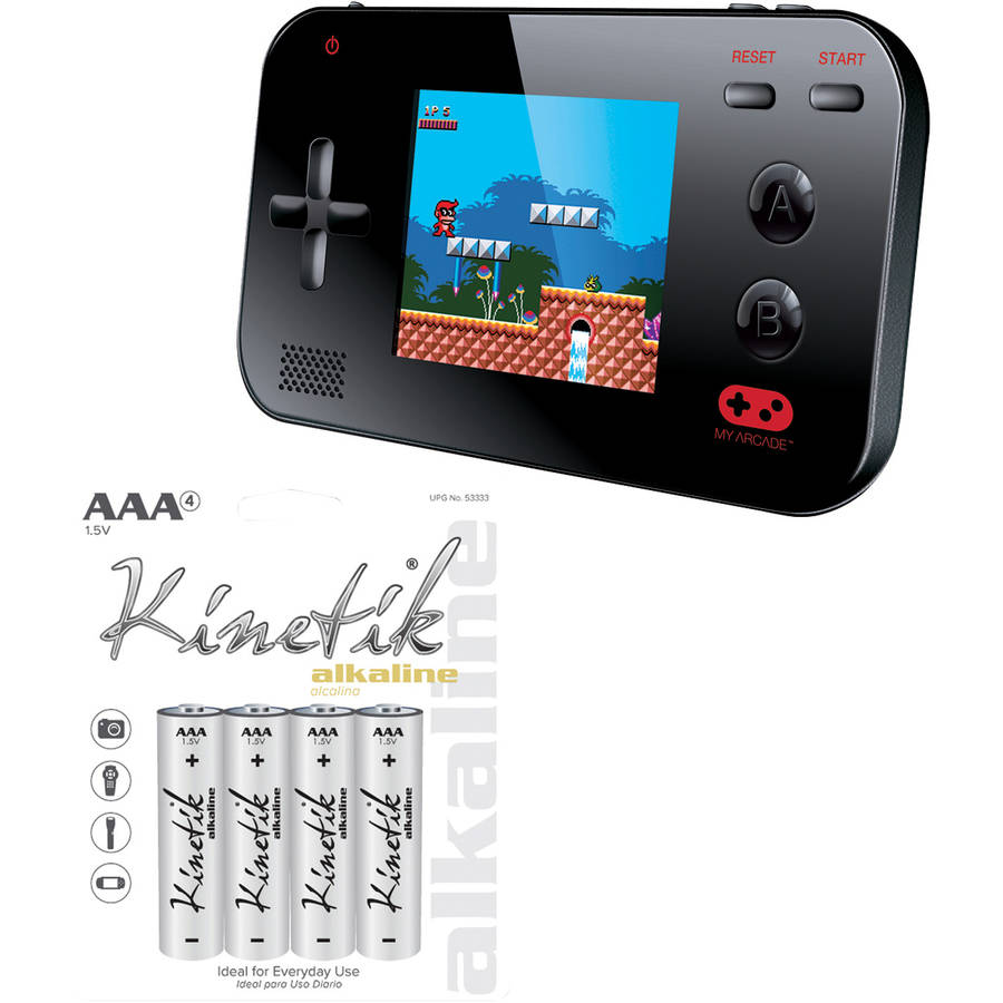 Image of dreamGEAR My Arcade Gamer V Portable Gaming System and Kinetik 4-Pack AAA Batteries