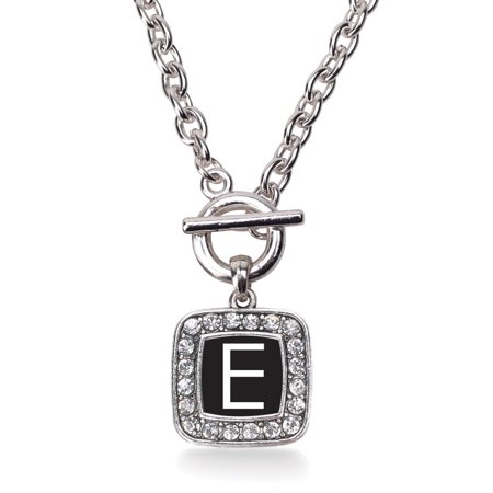 My Initials - Letter E Classic Charm Toggle Necklace ()