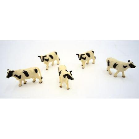 5 Pc Holstein Cows Ho Scale Figures (Ho Scale Figure)