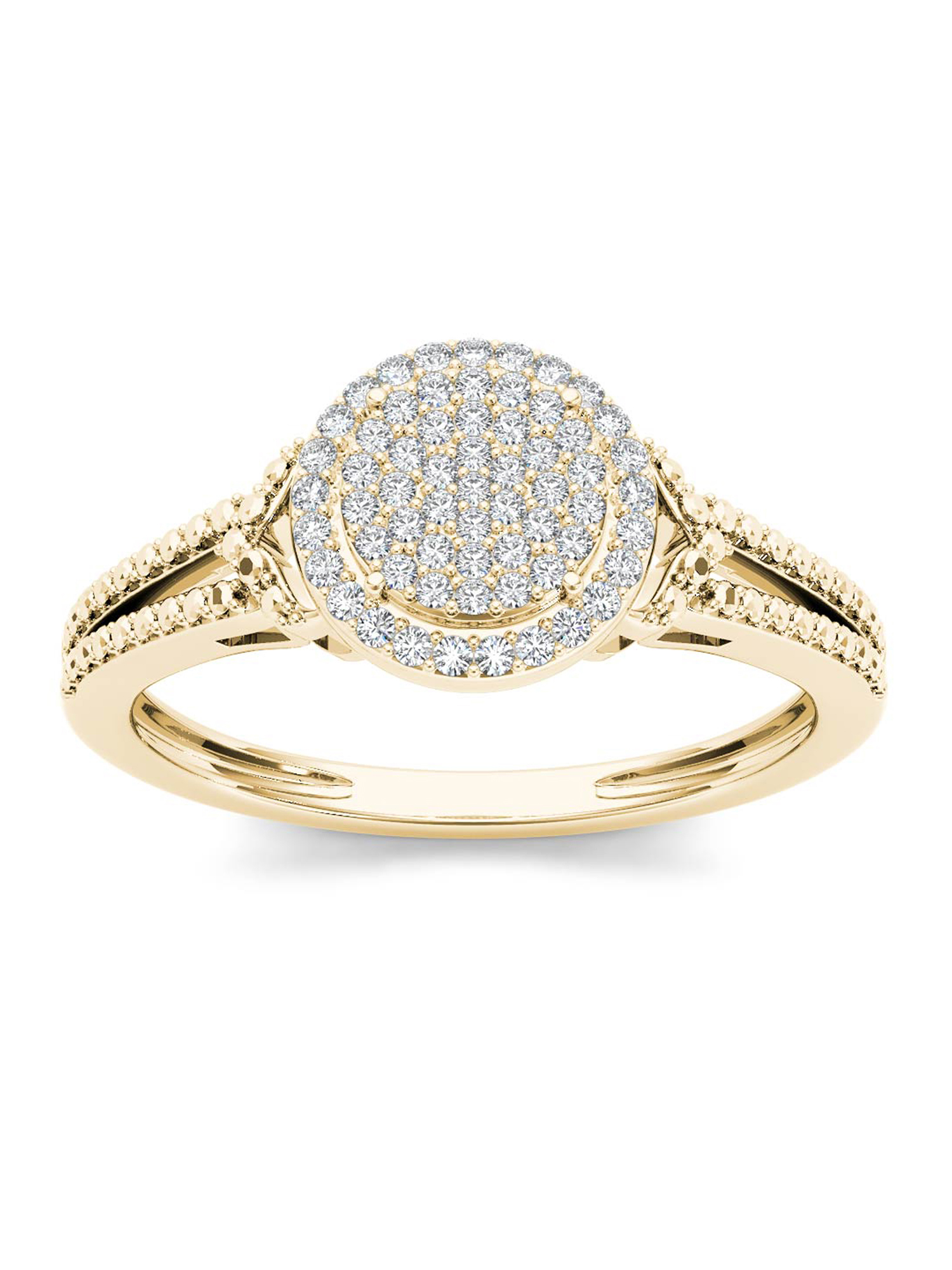 Imperial 1 4Ct TDW Diamond 10K Rose Gold Halo Engagement Ring by Imperial Jewels